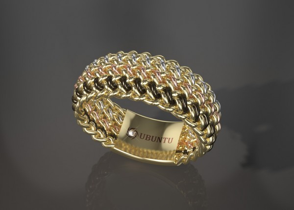 A gold African wedding band