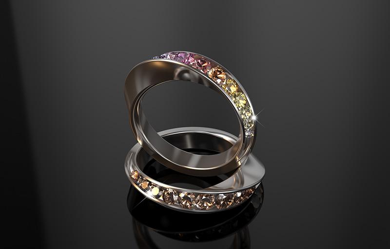 Natural Fancy Diamond Twist Eternity