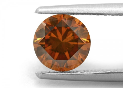 Deep Cognac natural coloured diamond