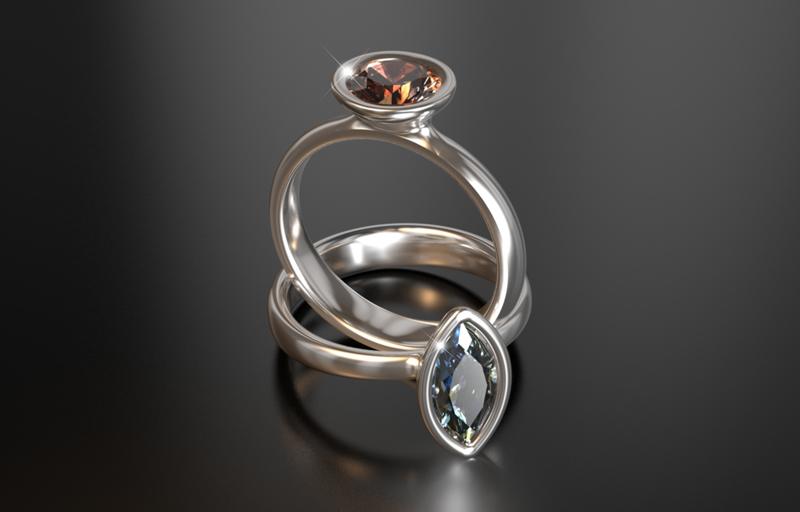 Morph Natural fancy Diamond Solitaire