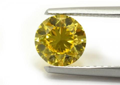 Vivid Yellow natural colored diamond top view